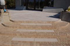 Łoś - Libet Impressio - Trawertyn - płyta tarasowa,  taras, schody. Libet Antico - Romano piaskowo - beżowe