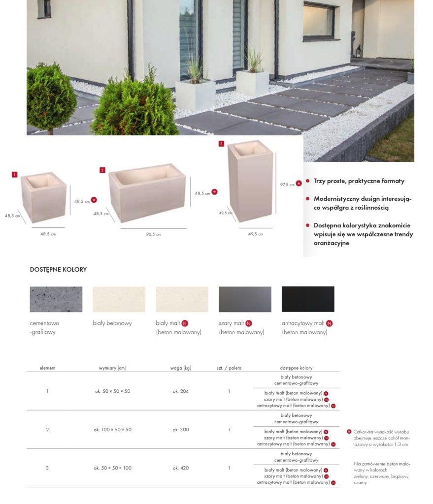 Donice betonowe Libet Stampo