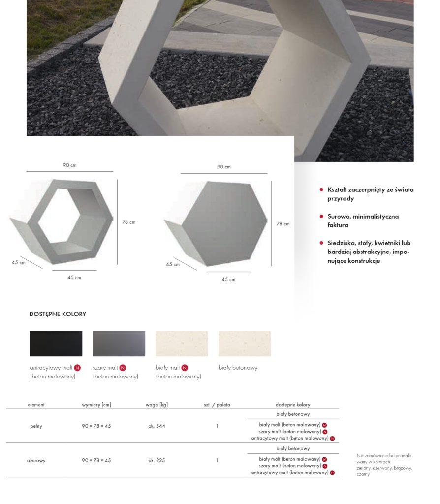 Donice betonowe Stampo Plaster miodu