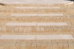 Łoś - Libet Impressio - Trawertyn - płyta tarasowa, schody. Libet Antico - Romano piaskowo - beżowe