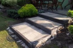 Brwinów - Libet Impressio - Maxima popielata -  schody do ogrodu