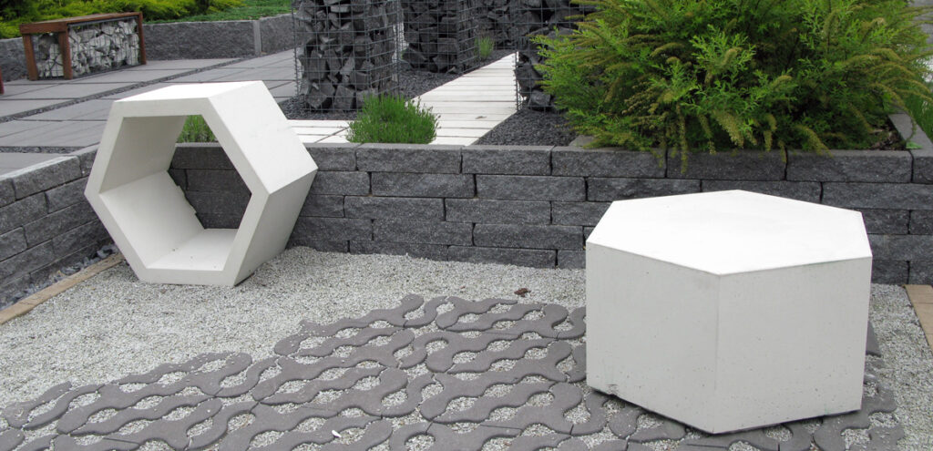 Donice betonowe plaster miodu Libet Stampo